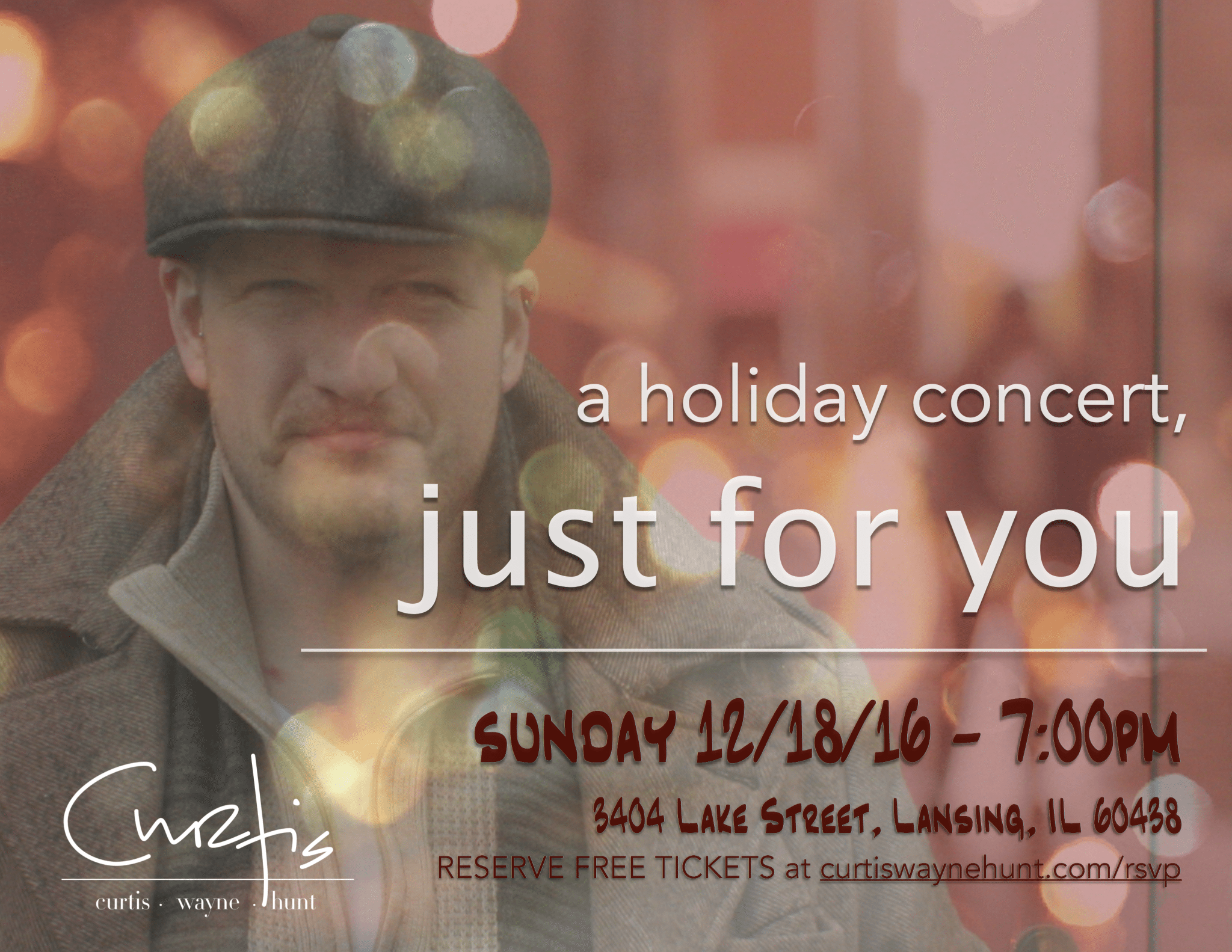 Just For You, 2016 Holiday Concert!